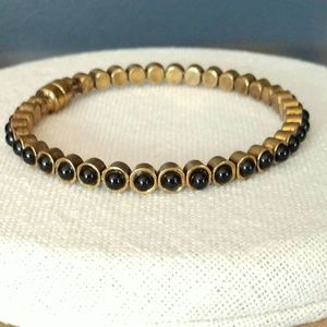 Jewelry - Black and gold magnetic closure bangle
